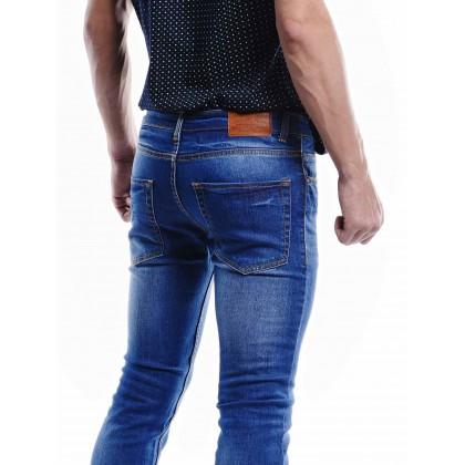 indigo mid-rise jeans