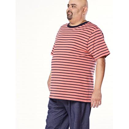 peach short sleeve stripe tee
