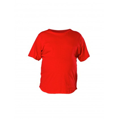 red short sleeve basic tee