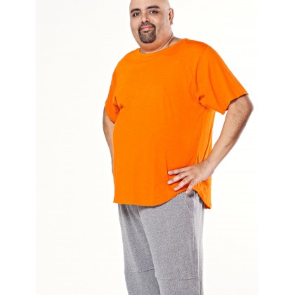orange short sleeve basic tee