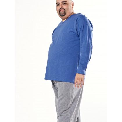 blue long sleeve basic tee
