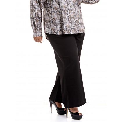 black straight cut pants