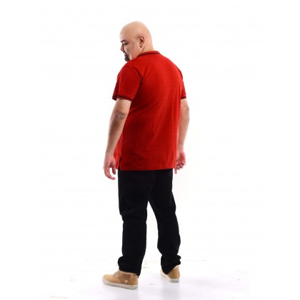Short sleeve polo tee in Red